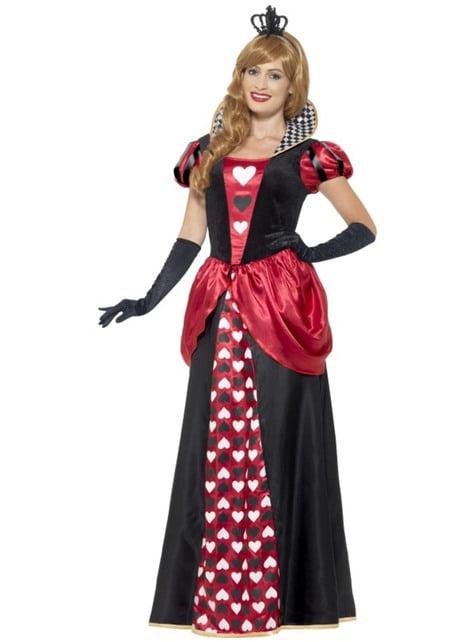 Disfraz de su Majestad de Corazones para mujer