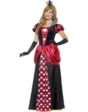 Costume da Sua Maestà di Cuori per donna