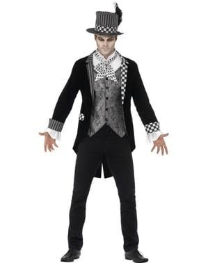 Dunkler Hutmacher Kostüm für Herren