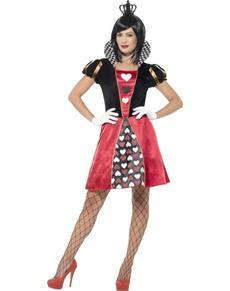Kaartenspel Koningin kostuum voor vrouwen