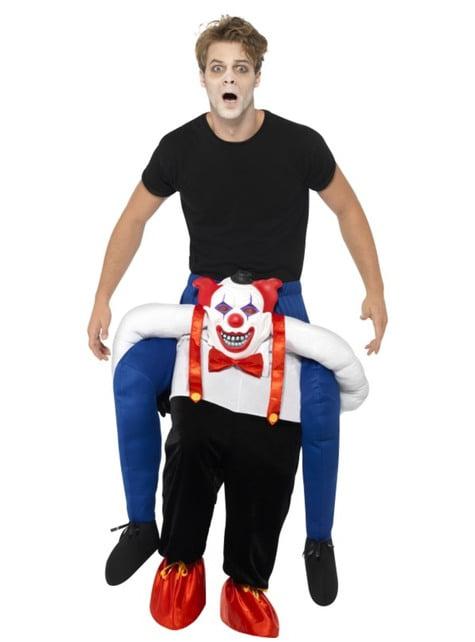 Déguisement clown sinistre porte-moi adulte