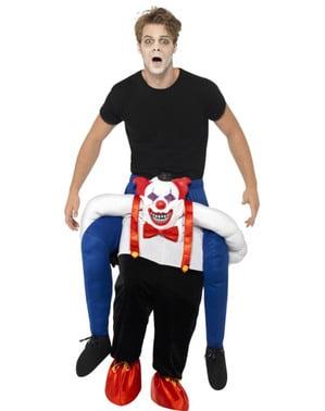 Езда на възрастен на зловещ костюм за клоун
