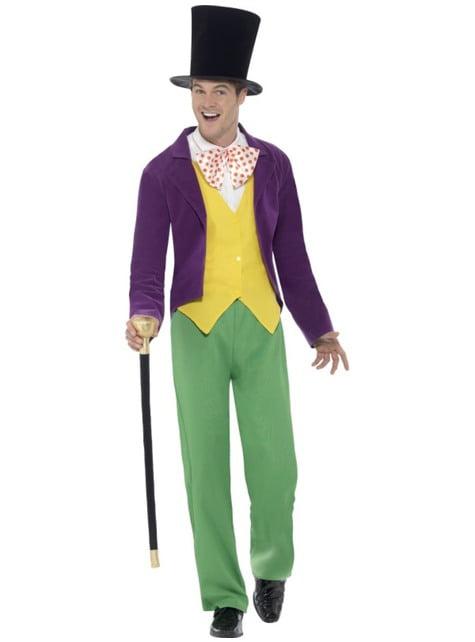 Déguisement willy Wonka Roald Dahl homme