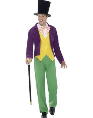 Fato de Willy Wonka Roald Dahl para homem