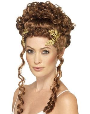 Corona dorada de laurel