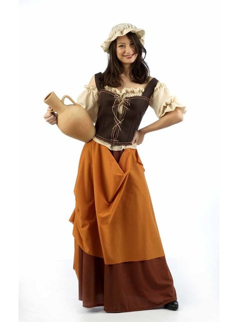 Disfraz de tabernera Elie para mujer