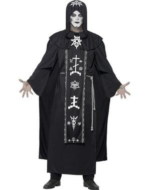 Fato de sacerdote de seita satânica para homem
