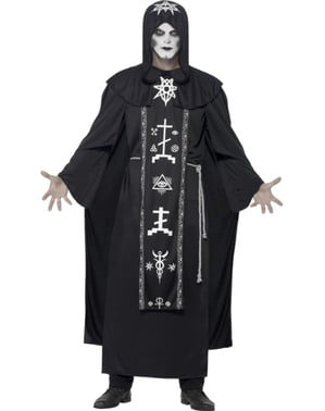 Satanisk Sekt Prest Kostyme Mann