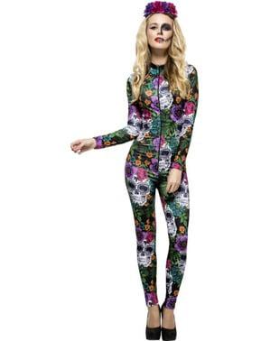 La Catrina Dag van de doden jumpsuit kostuum voor vrouwen
