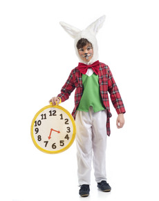 Boy's White Rabbit Costume