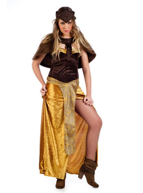 Disfraz de vikinga brava para mujer