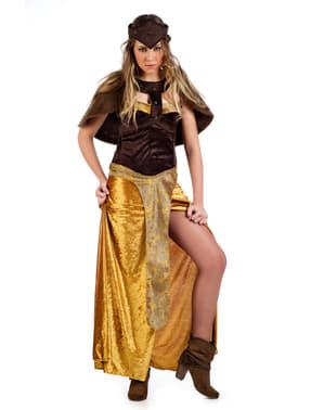 Dappere viking kostuum voor vrouw