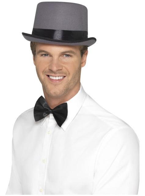 20er Jahre Hut grau für Erwachsene