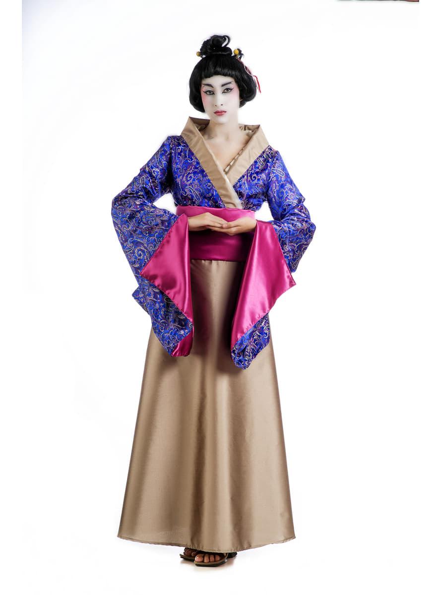 geisha lotusblumen kost m f r damen funidelia. Black Bedroom Furniture Sets. Home Design Ideas