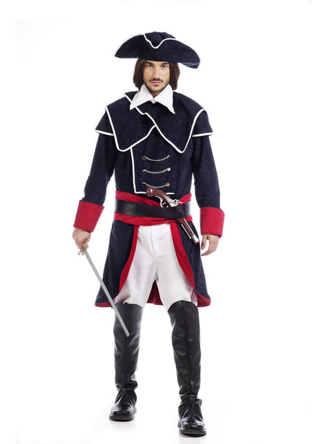 Disfraz de capitán de la Armada Española para hombre