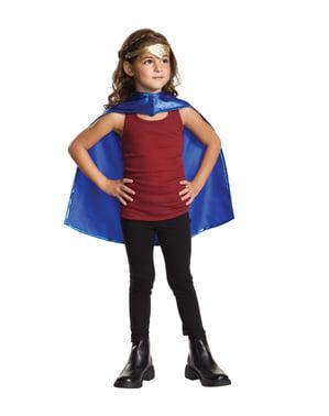 Wonderwoman Tiara og Kappe Sett for Jente