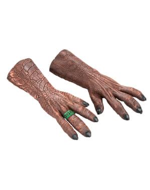 Mãos de Kilowog em látex para homem