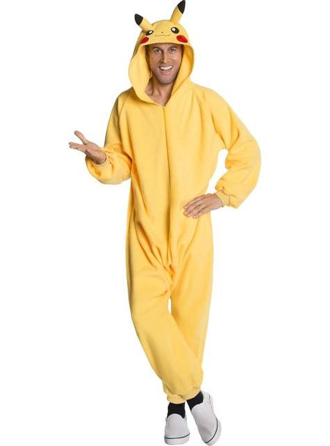 Fato de Pikachu onesie para homem