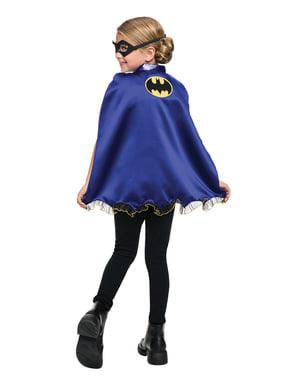 Kit loup et cape Batgirl fille