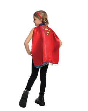 लड़की की सुपरगर्ल केप और हेडबैंड किट