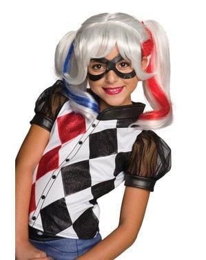 Peluca de Harley Quinn Suicide Squad para niña