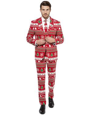"""Червен коледен костюм """"Wonderland""""– Opposuits"""