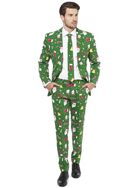 Fato natalício verde