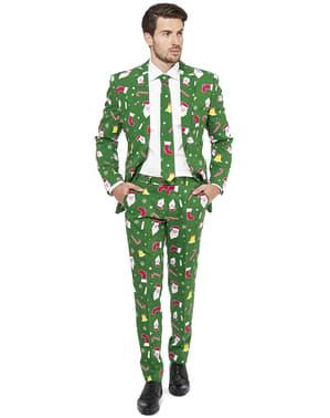 "Зелен коледен костюм ""Santaboss""– Opposuits"
