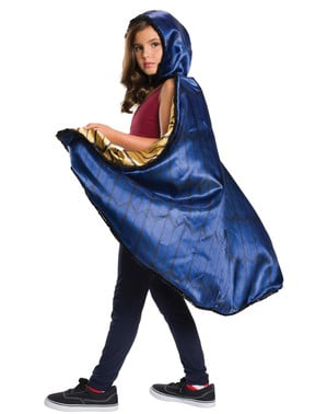 Capa de Mulher-Maravilha Batman vs Super-Homem deluxe para menina