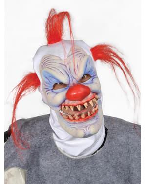 Máscara de payaso maligno para adulto