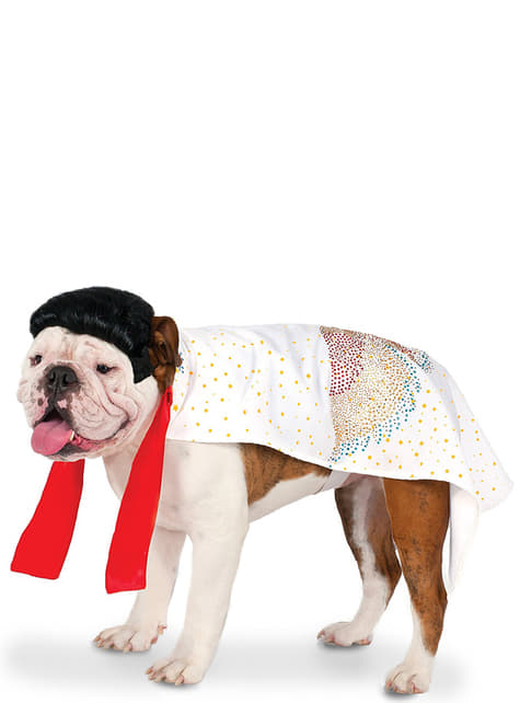 Dog's Elvis Toupee Costume