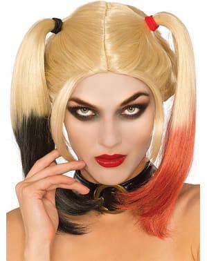 Peluca de Harley Quinn Arkham para adulto