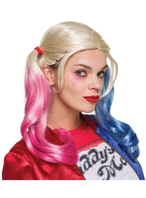 Peluca de Harley Quinn Suicide Squad para mujer