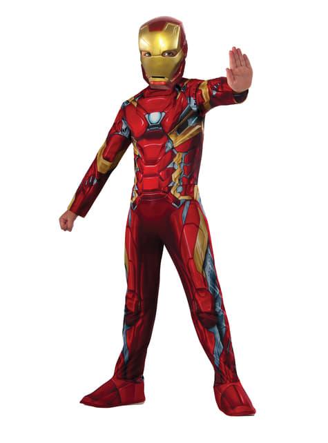 Fato de Iron Man Capitão América Civil War para menino