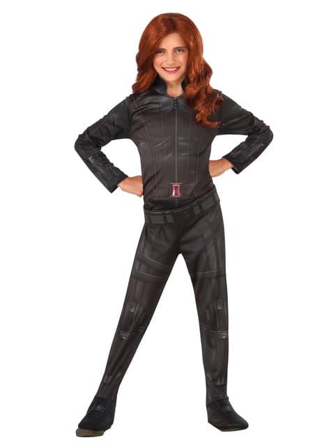 Girl's Black Widow Captain America Civil War Costume