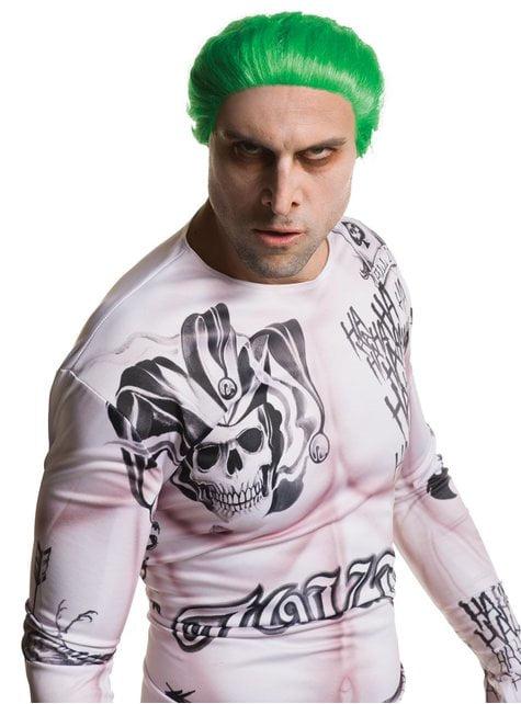 Peluca de Joker Escuadrón Suicida para hombre