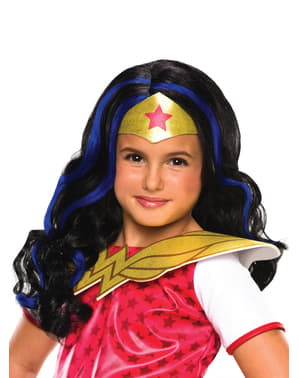 Perruque Wonder Woman fille
