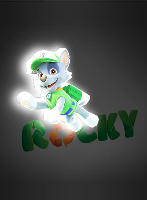 Lámpara decorativa 3D Rocky Patrulla Canina - oficial