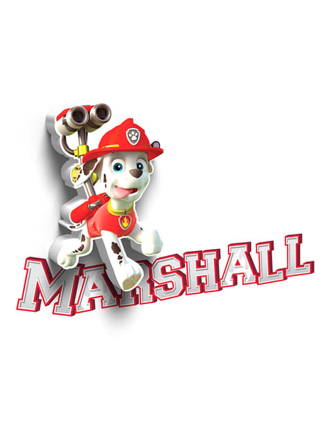 Lámpara decorativa 3D Marshall Patrulla Canina