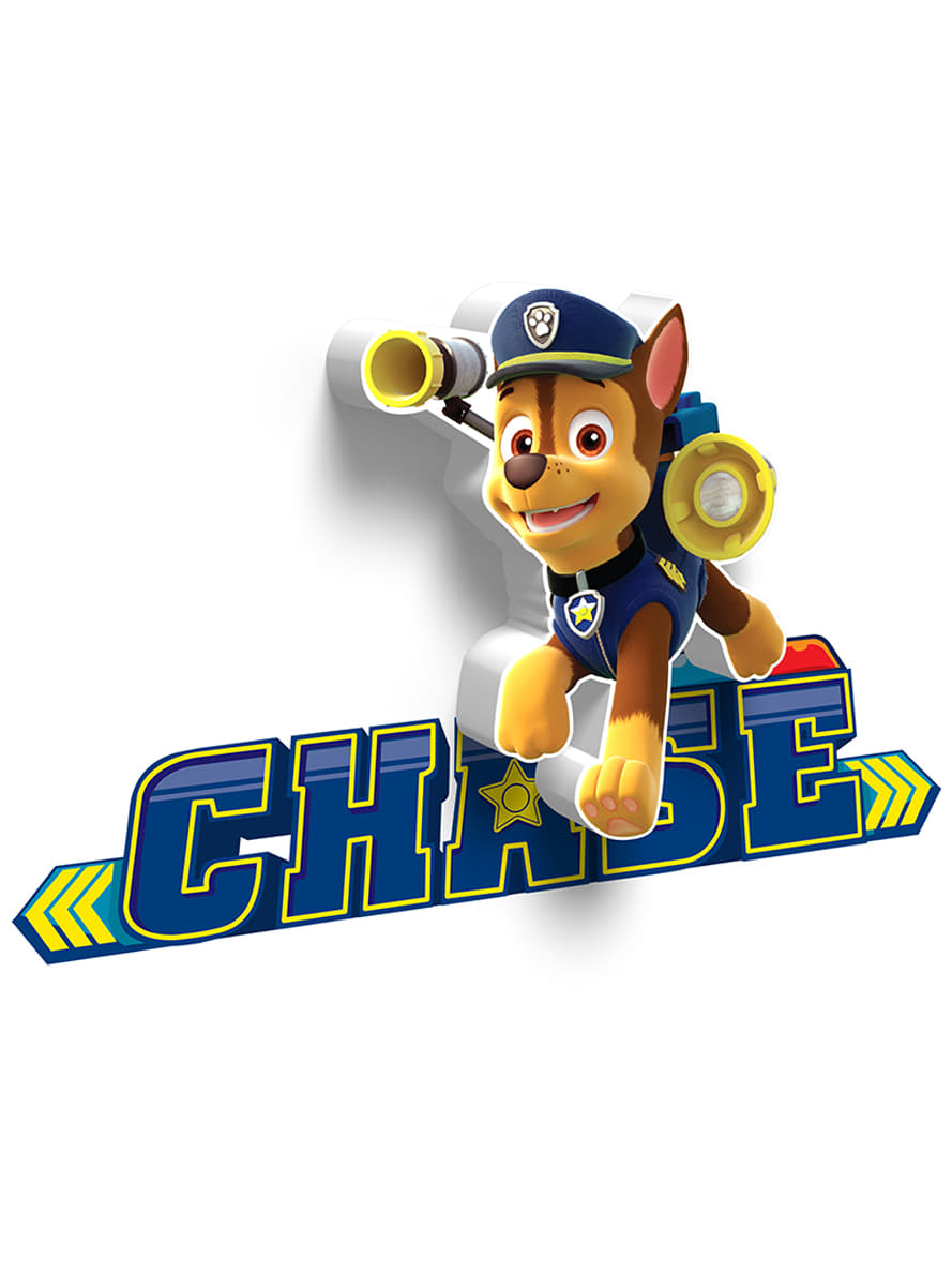 3d deco light chase paw patrol for true fans funidelia