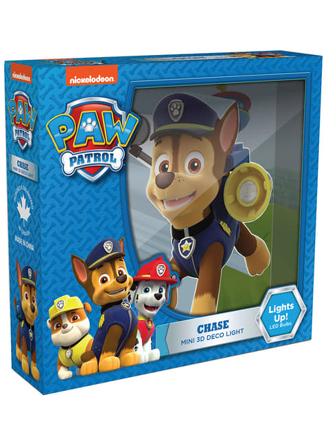 Candeeiro decorativa 3D Chase Paw Patrol