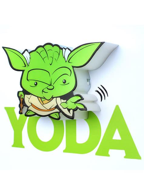 Lámpara decorativa 3D Yoda cartoon