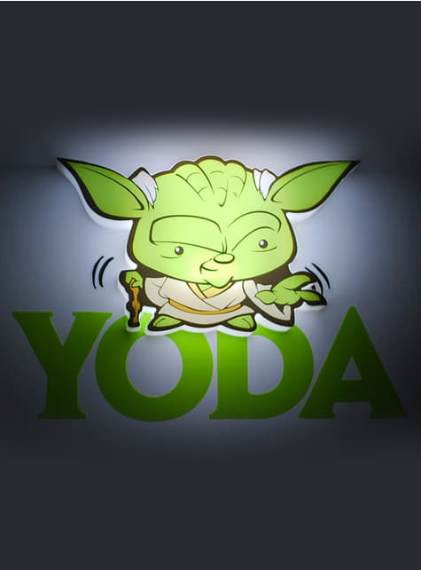3D Deco Light Yoda Cartoon
