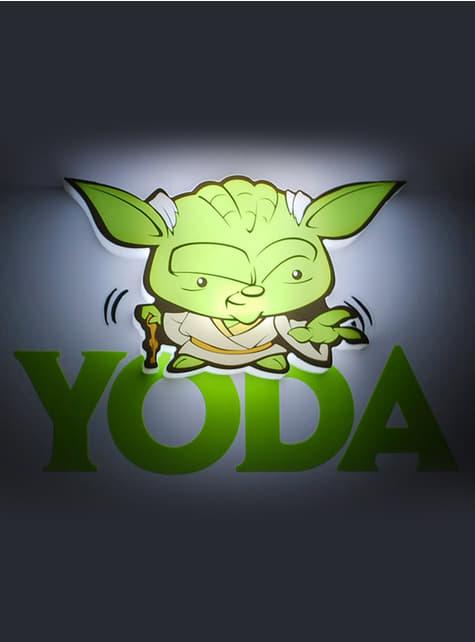 Lámpara decorativa 3D Yoda cartoon - oficial