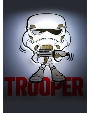 Lampada da muro 3D Stormtrooper cartoon Star Wars