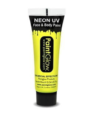 UV-valossa hohtava neon-kasvo- ja kehomaali