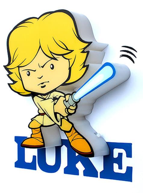 Lámpara decorativa 3D Luke Skywalker cartoon
