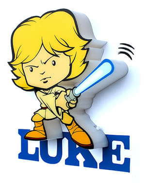 Lámpara decorativa 3D Luke Skywalker cartoon