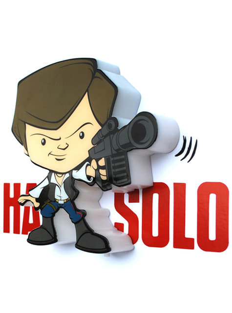 Candeeiro decorativa 3D Han Solo cartoon