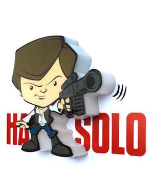 Animaatiotyylinen Han Solo -3D-koristelamppu